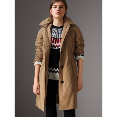 Free Shipping Latest Collections Sale Visit New Burberry Detachable Hood Showerproof Car Coat Very Cheap Best Place To Buy Online fPdiMY