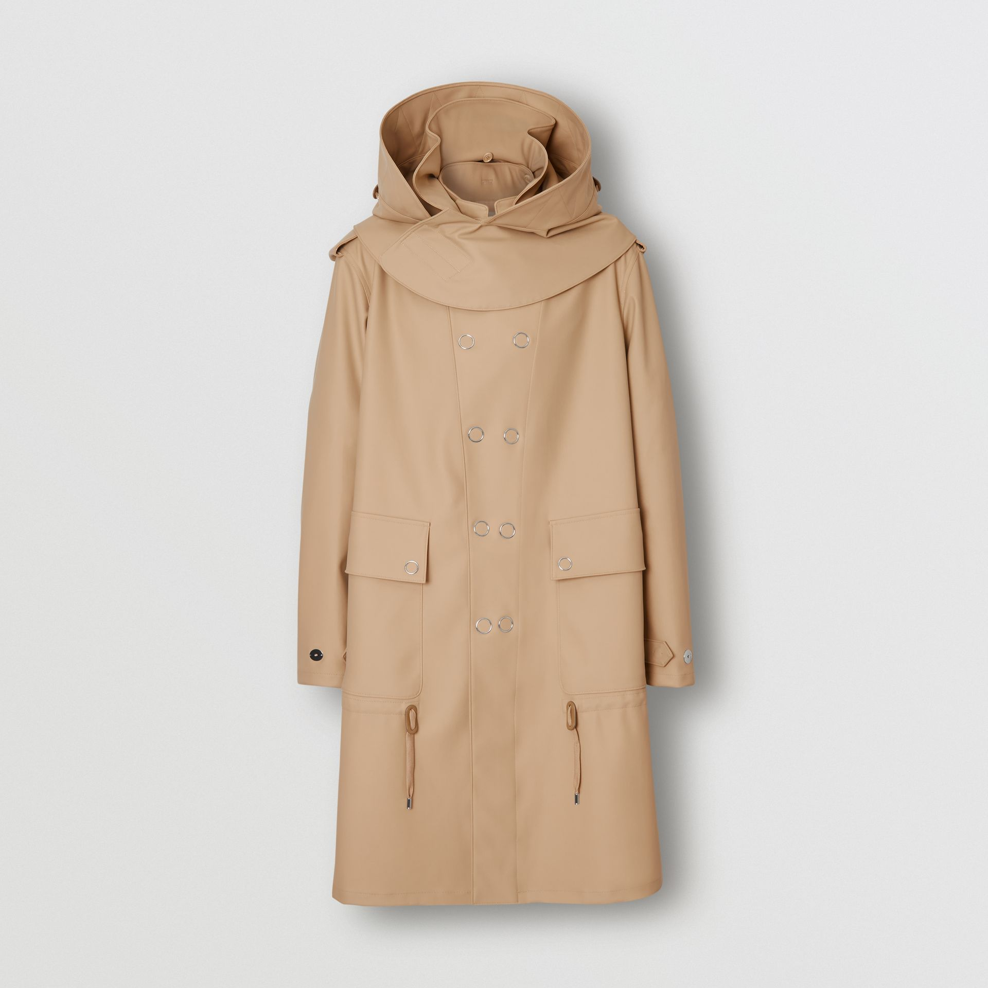 Detachable Hood Rubberised Parka in Honey | Burberry United States - gallery image 3