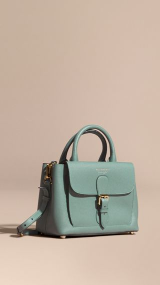 The Small Saddle Bag in Grainy Bonded Leather