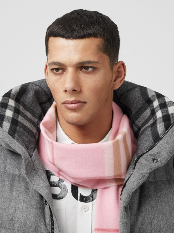 The Classic Check Cashmere Scarf in Candy Pink | Burberry United States - cell image 3