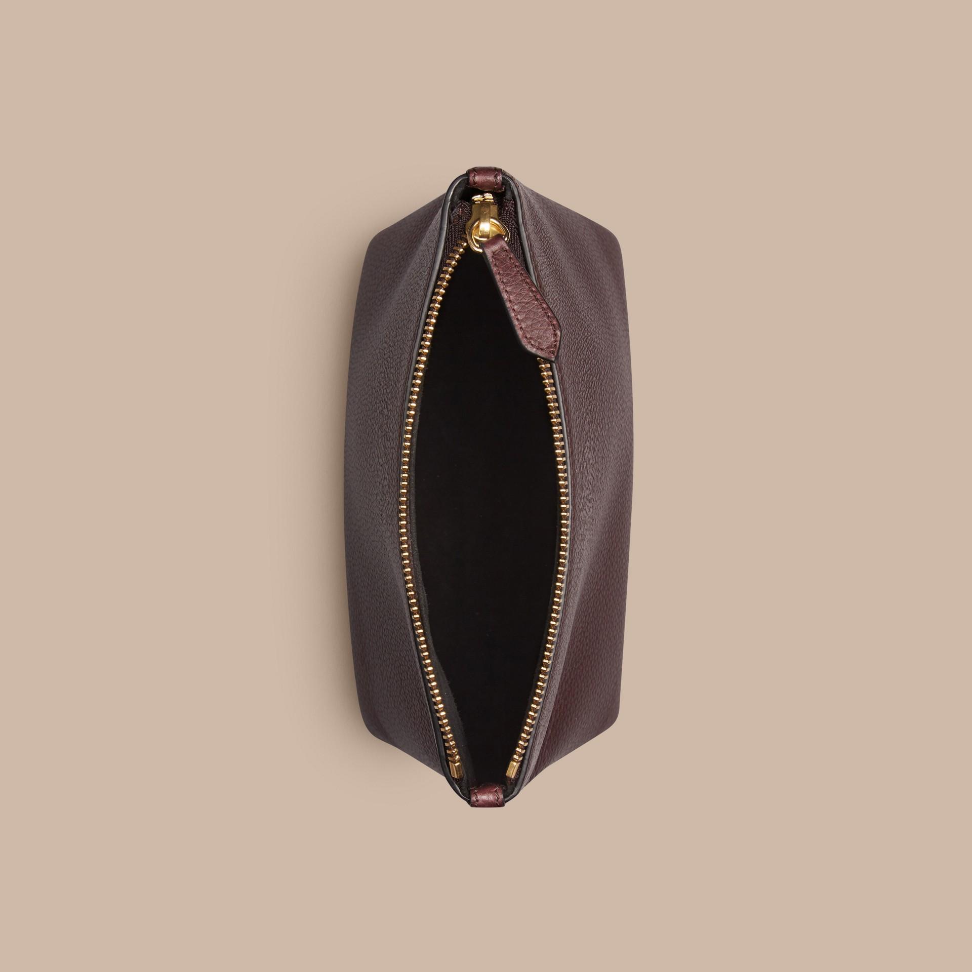 Ébène rouge Pochette zippé en cuir grainé Ébène Rouge - photo de la galerie 4