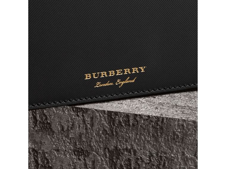 Trench Leather Travel Wallet in Black - Men | Burberry Singapore - cell image 1
