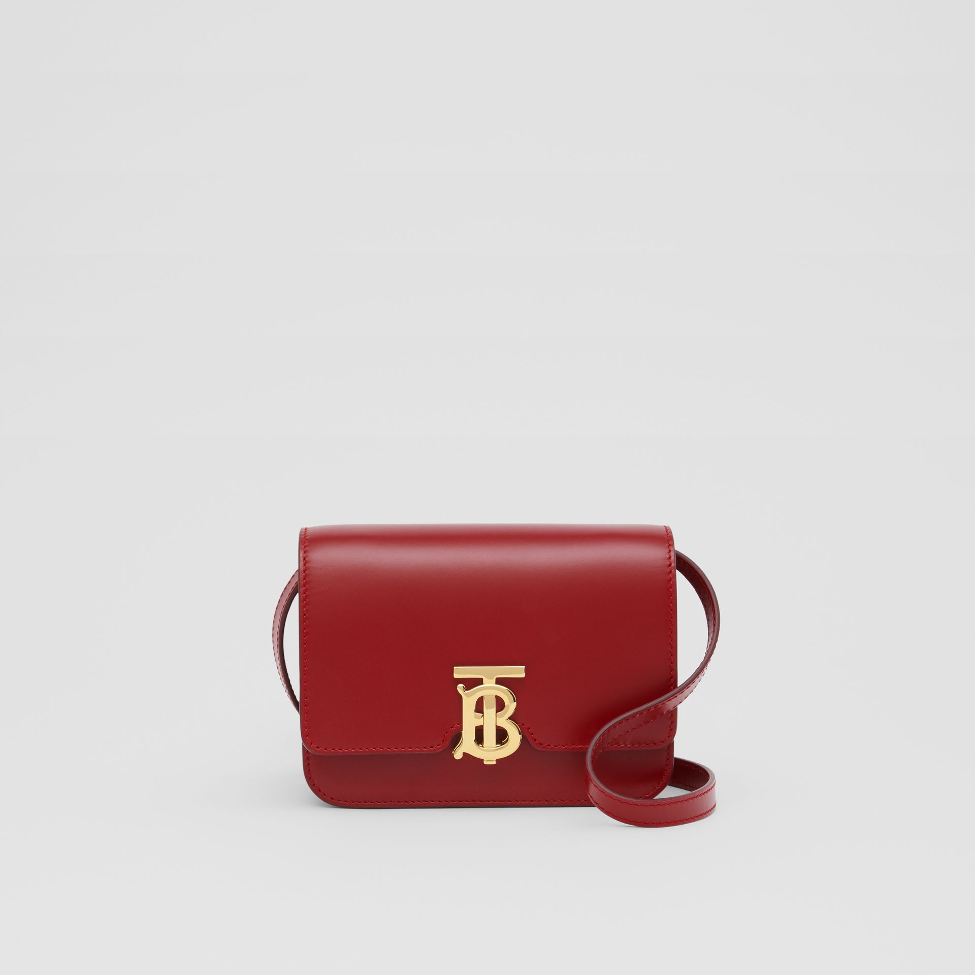 Mini Leather TB Bag in Dark Carmine - Women | Burberry - gallery image 0