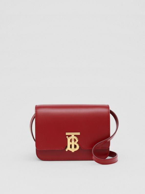 TB Bag im Miniformat aus Leder (Dunkles Karminrot)