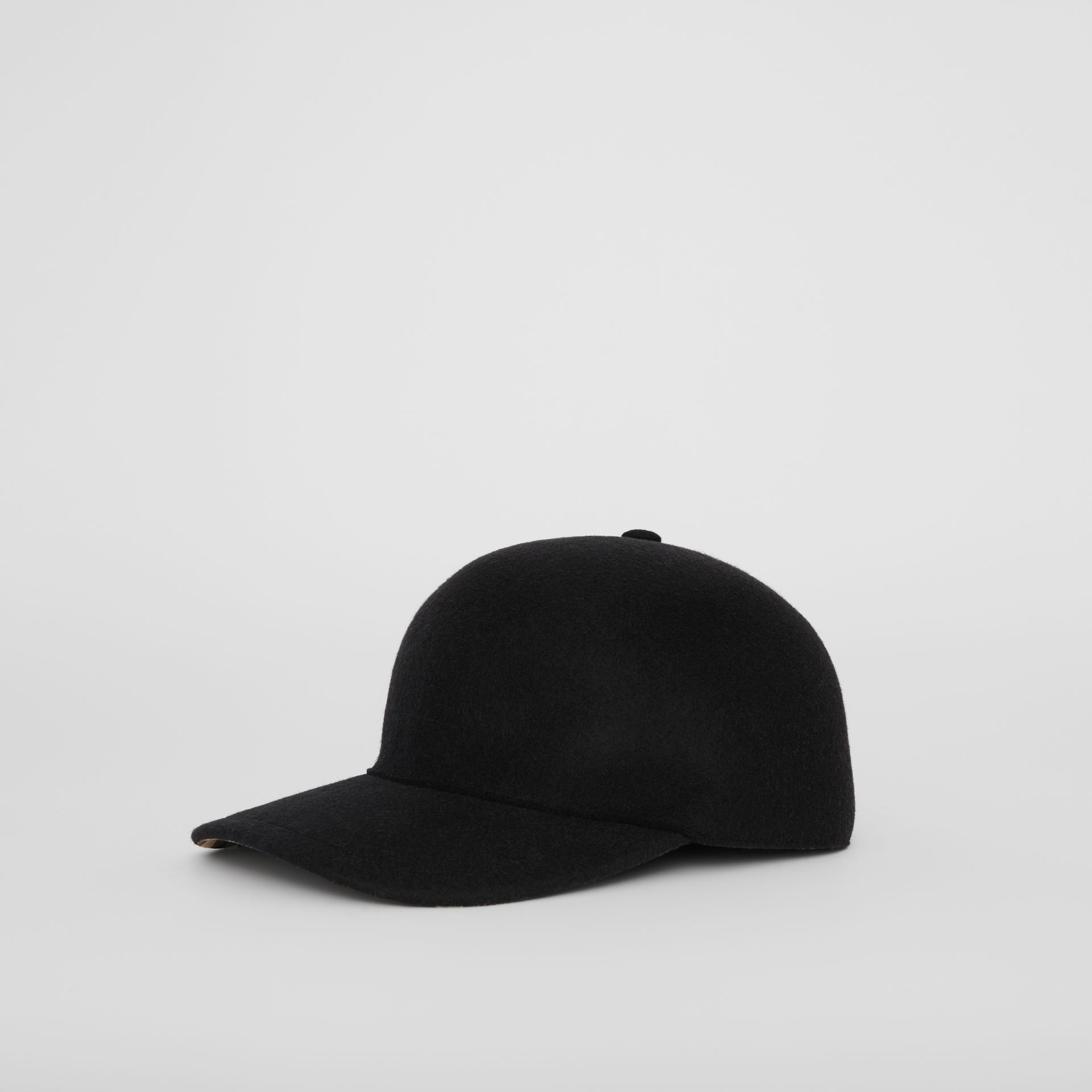 Felted Wool Baseball Cap in Black | Burberry United States - gallery image 5