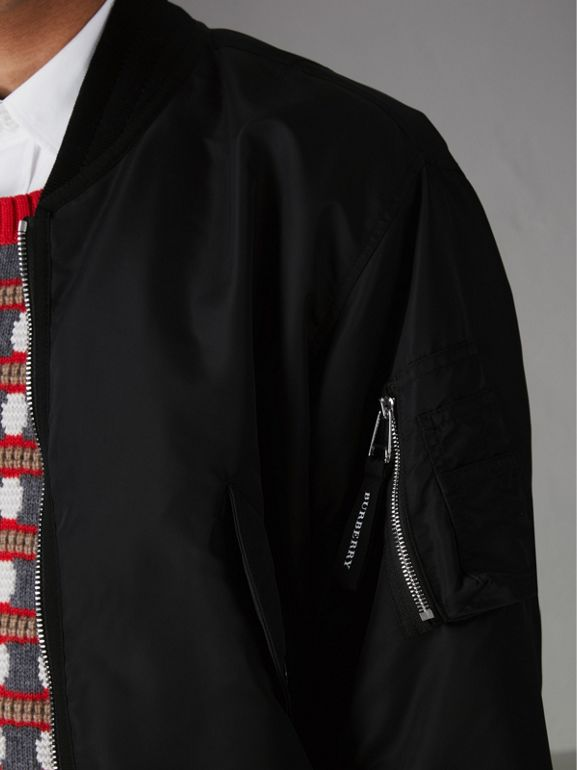 Bomber in nylon (Nero) | Burberry - cell image 1