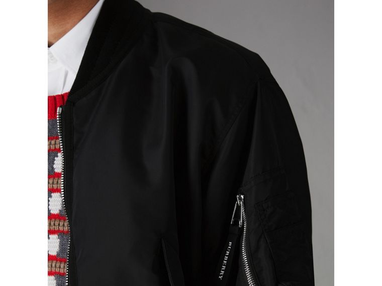 Nylon Bomber Jacket in Black - Men | Burberry - cell image 1