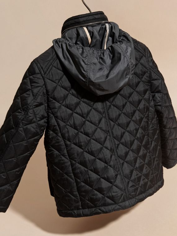 Diamond Quilted Field Jacket - Boy | Burberry - cell image 3