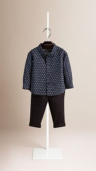Spot Print Cotton Shirt