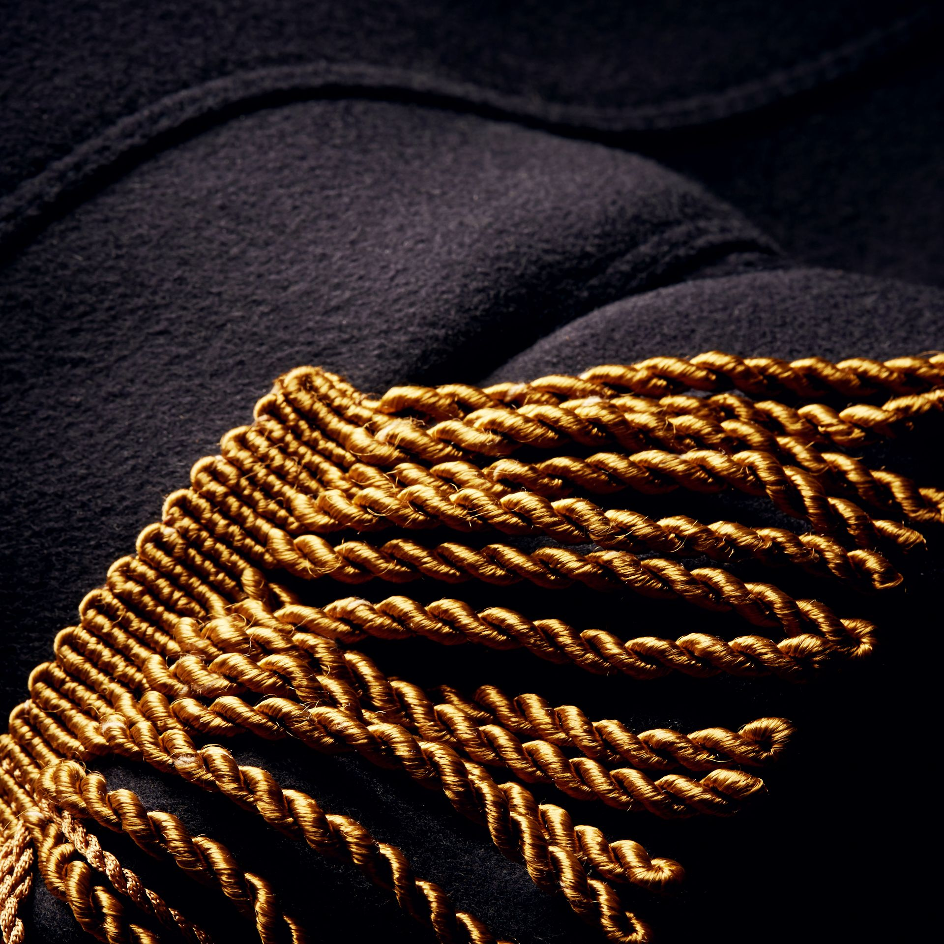 Dark navy Braided Detail Military Wool Jacket - gallery image 2