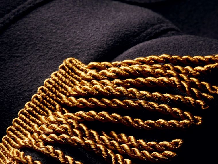 Dark navy Braided Detail Military Wool Jacket - cell image 1