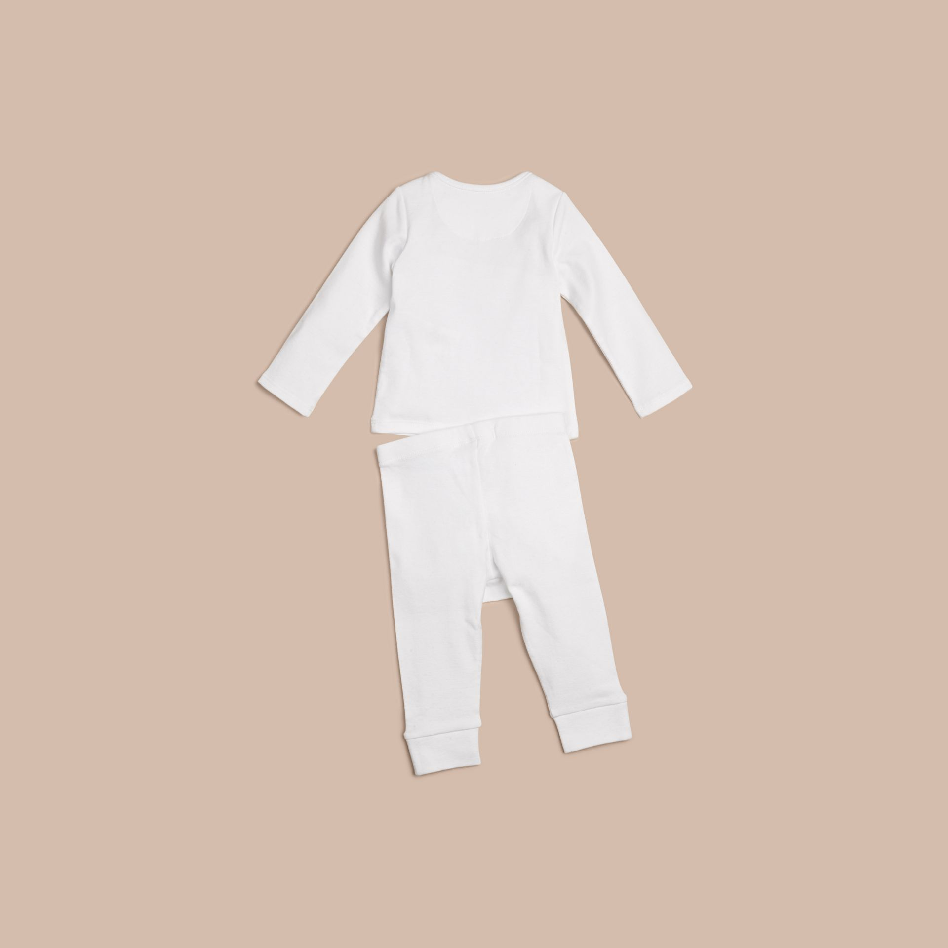 White Two-piece Cotton Baby Gift Set - gallery image 2