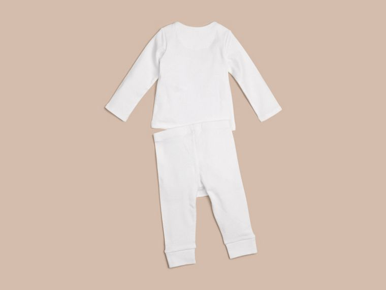 White Two-piece Cotton Baby Gift Set - cell image 1