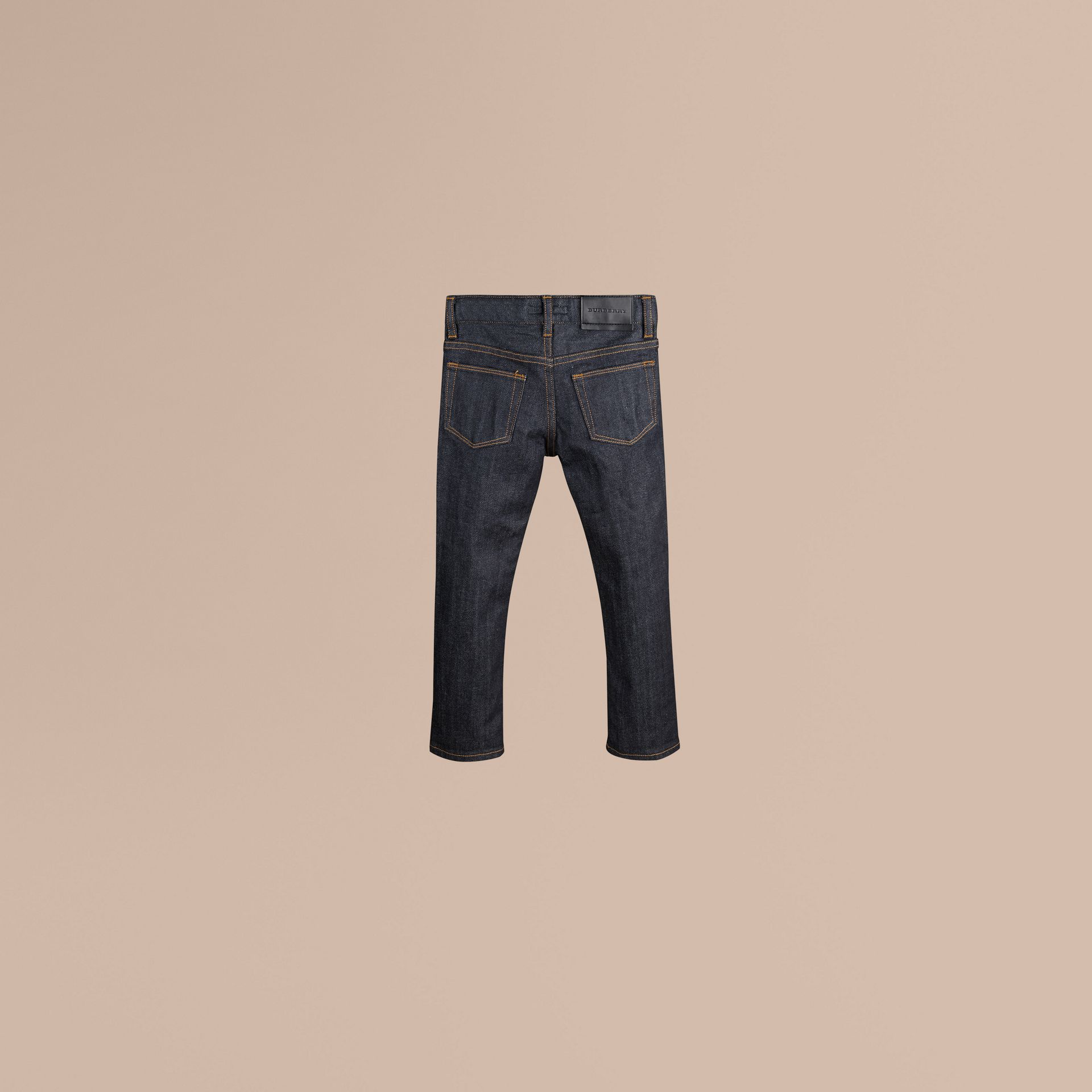 Dark indigo Skinny Fit Stretch Indigo Jeans - gallery image 3