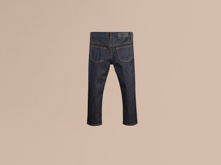 Jeans attillati in cotone stretch indaco - cell image 2