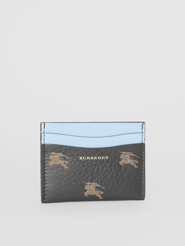 EKD Leather Card Case in Black - Women | Burberry - cell image 3