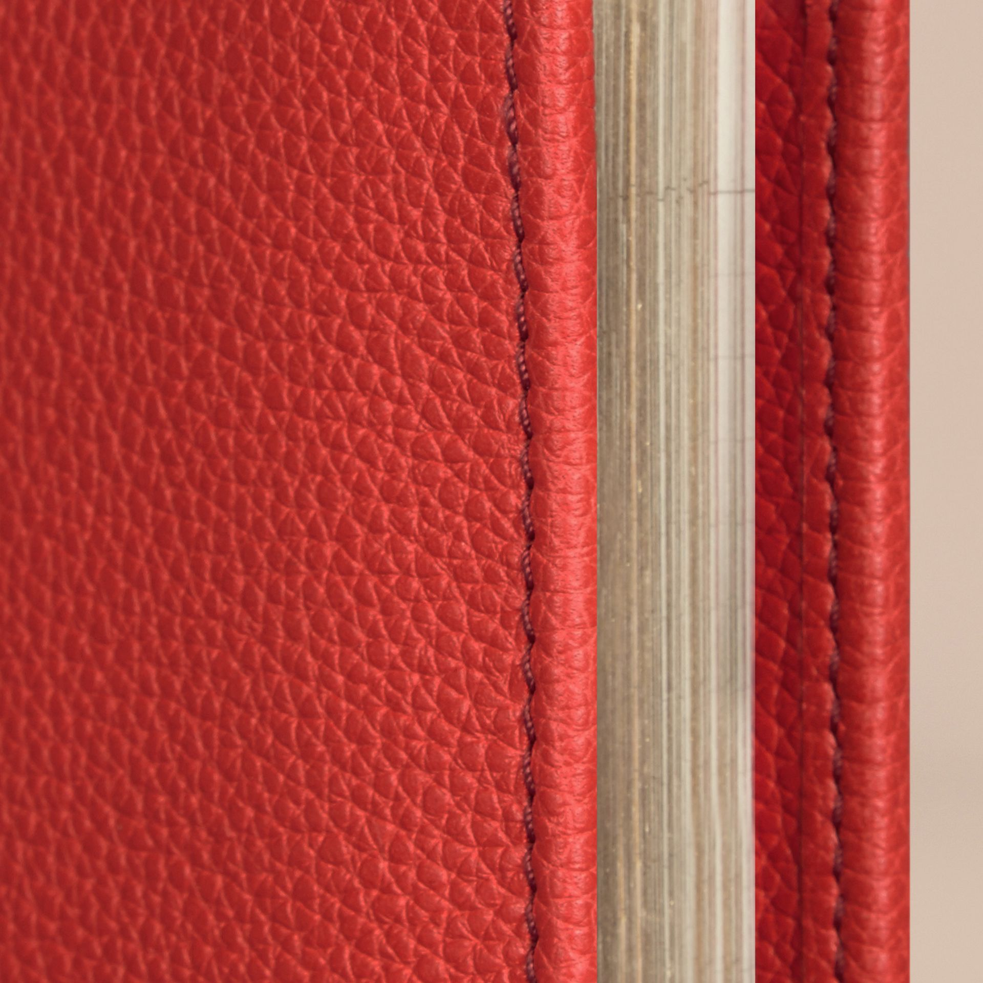 Grainy Leather 18 Month 2016/17 A5 Diary in Orange Red - gallery image 2
