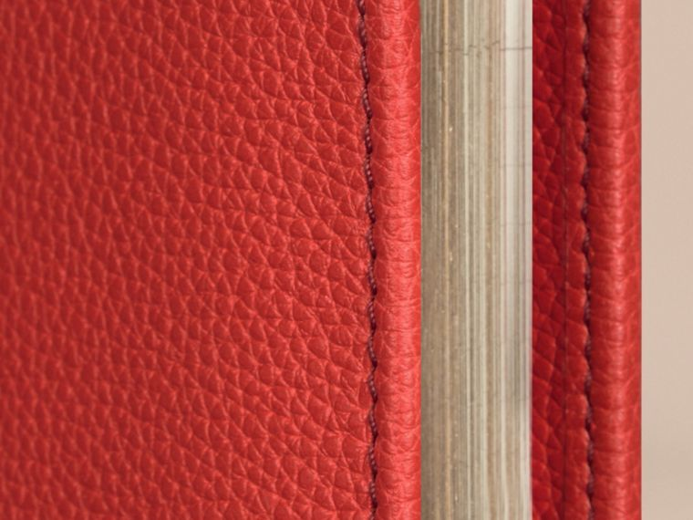 Grainy Leather 18 Month 2016/17 A5 Diary in Orange Red - cell image 1