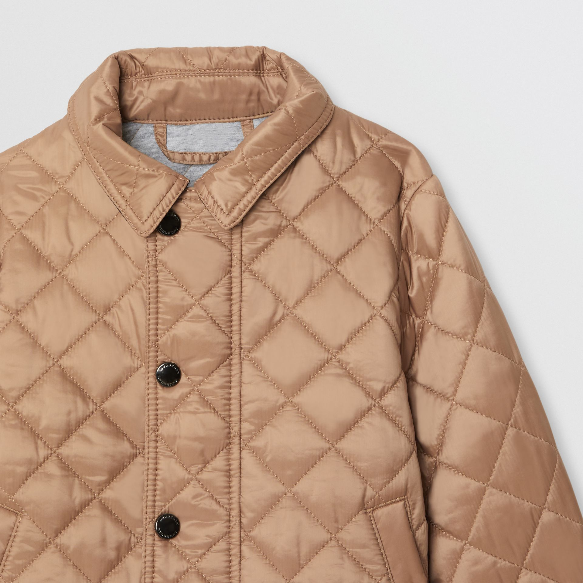 Lightweight Diamond Quilted Jacket in Camel | Burberry Australia - gallery image 4