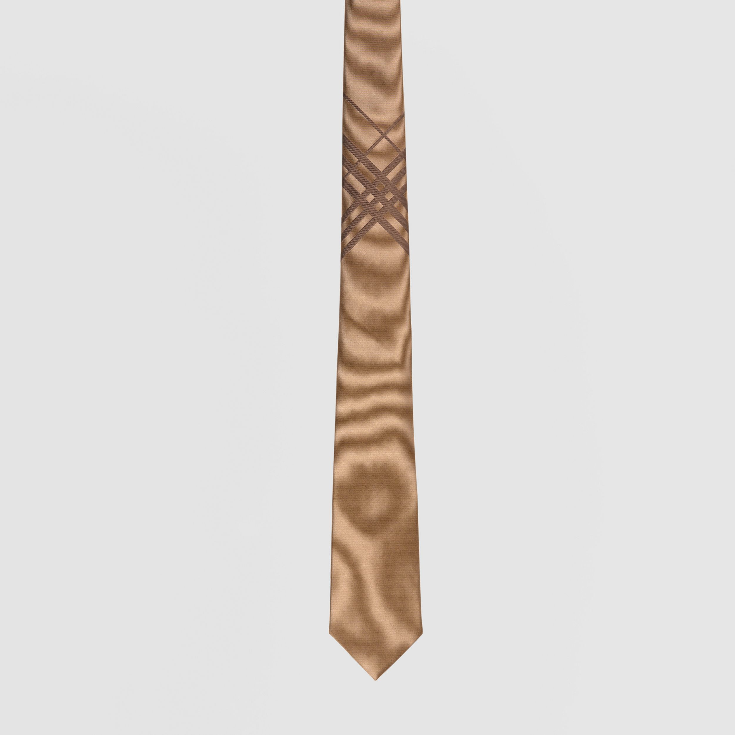 Classic Cut Check Silk Jacquard Tie in Caramel - Men | Burberry - 4