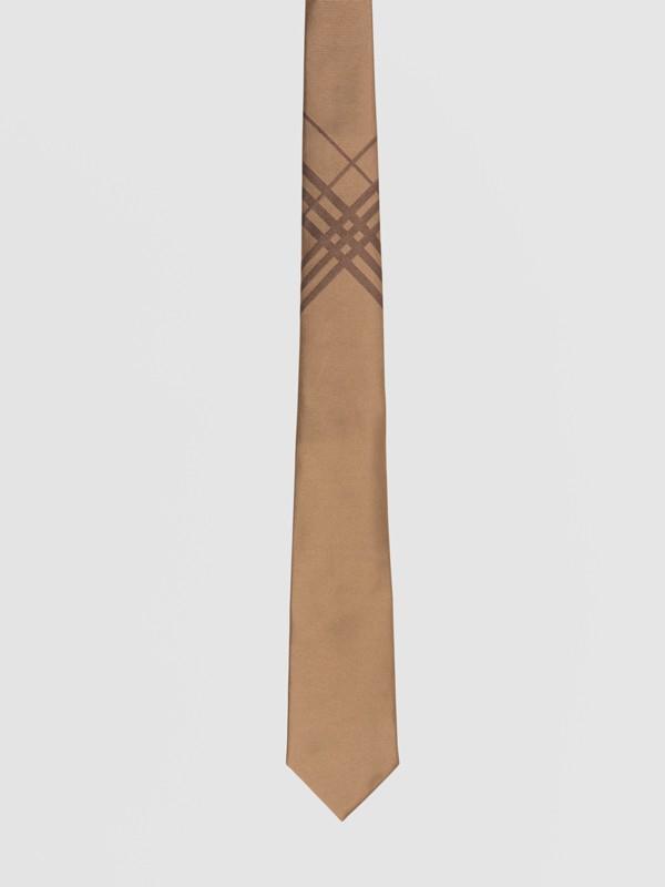 Classic Cut Check Silk Jacquard Tie in Caramel - Men | Burberry United Kingdom - cell image 3