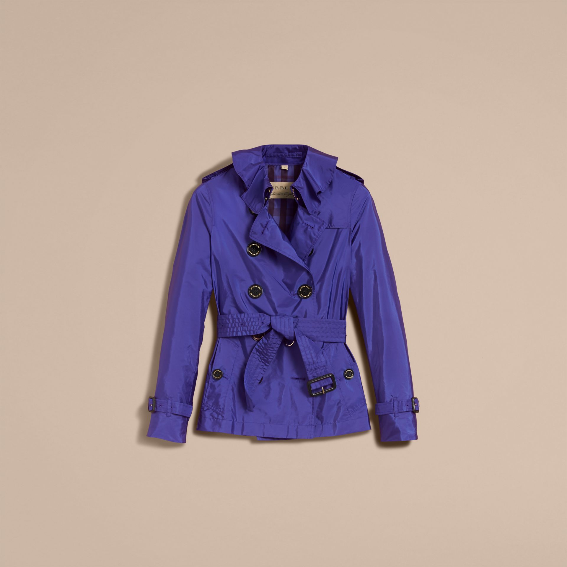 Showerproof Trench Coat in Sapphire Blue - Women | Burberry - gallery image 4