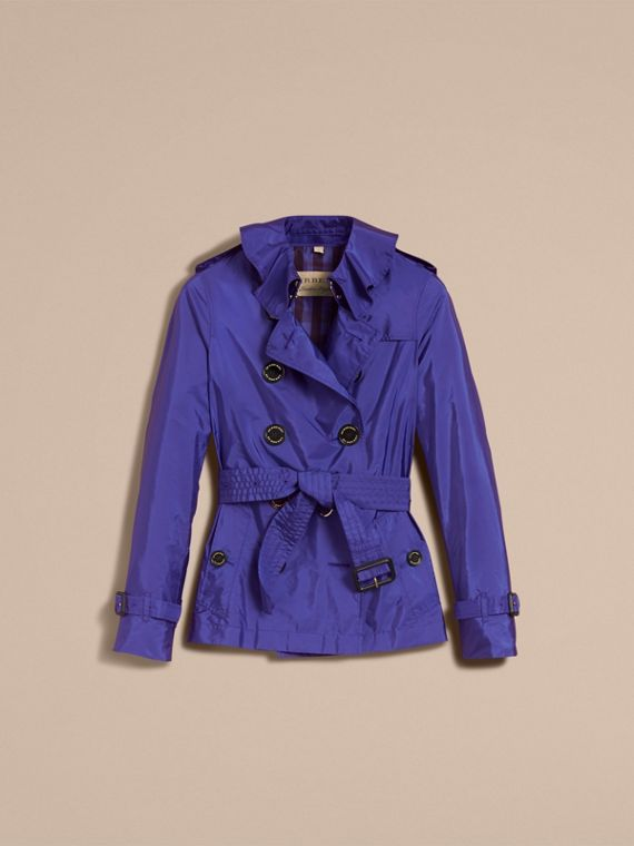Showerproof Trench Coat in Sapphire Blue - Women | Burberry - cell image 3