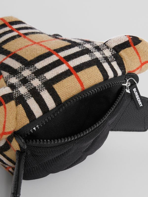 Thomas Bear Vintage Check Merino Wool Bum Bag in Archive Beige - Children | Burberry - cell image 3