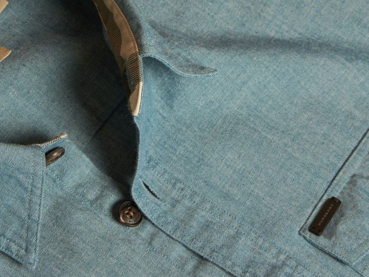 Mineral blue Chambray Cotton Shirt - cell image 1