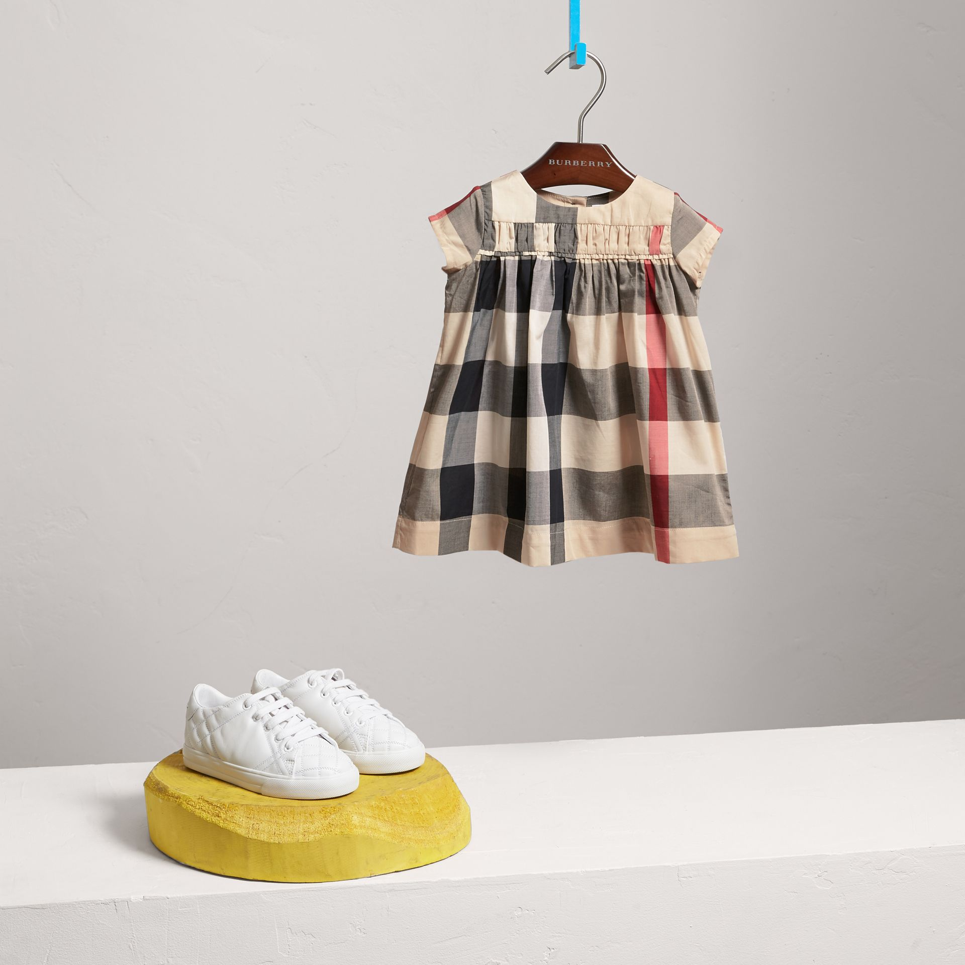 Check Cotton Dress in New Classic - Girl | Burberry Australia - gallery image 0
