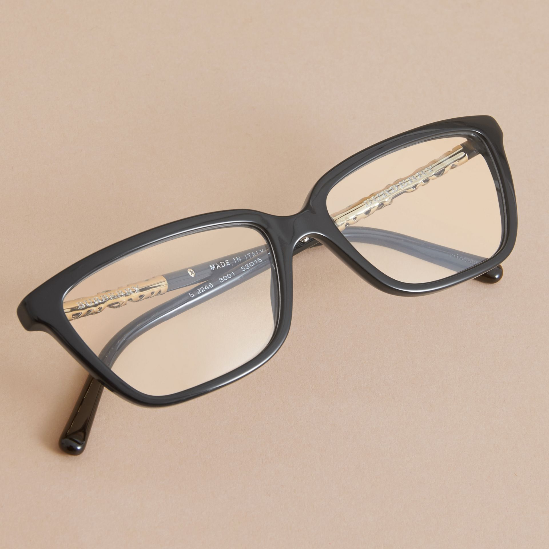 Check Detail Rectangular Cat-eye Optical Frames - gallery image 3