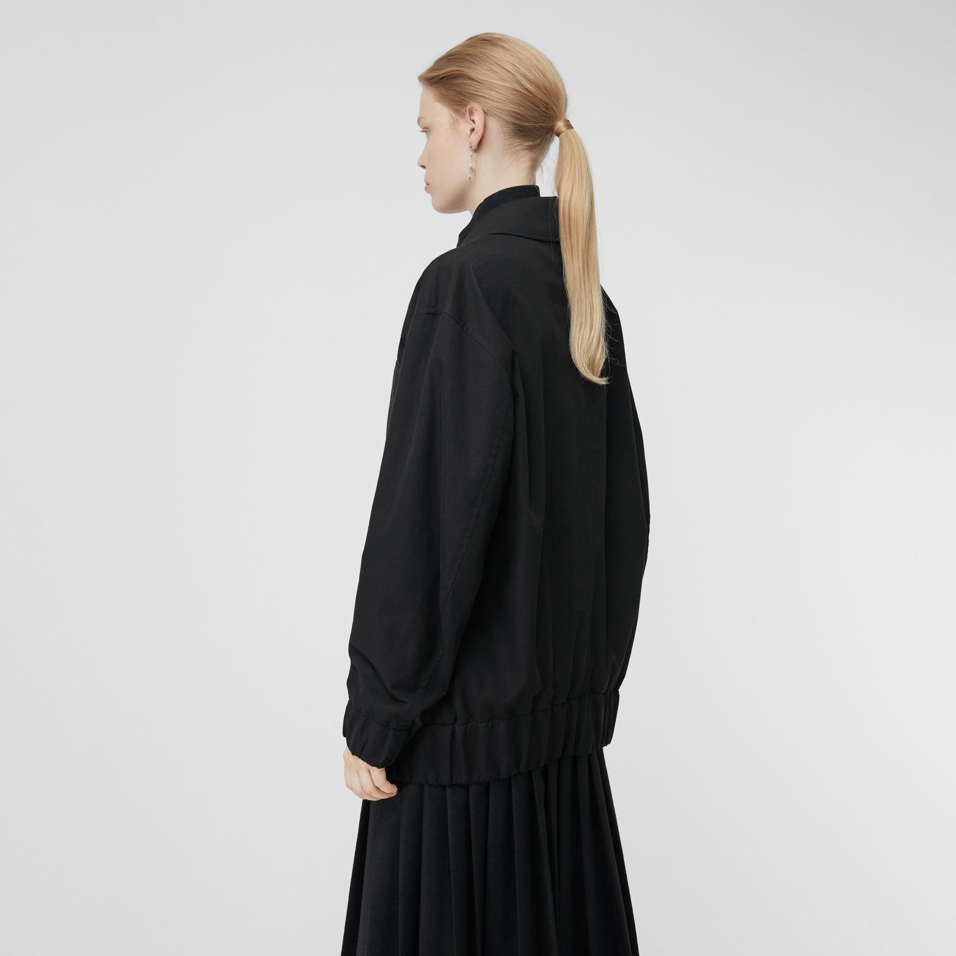 Tropical Gabardine Harrington Jacket in Black - Women | Burberry United Kingdom - gallery image 2
