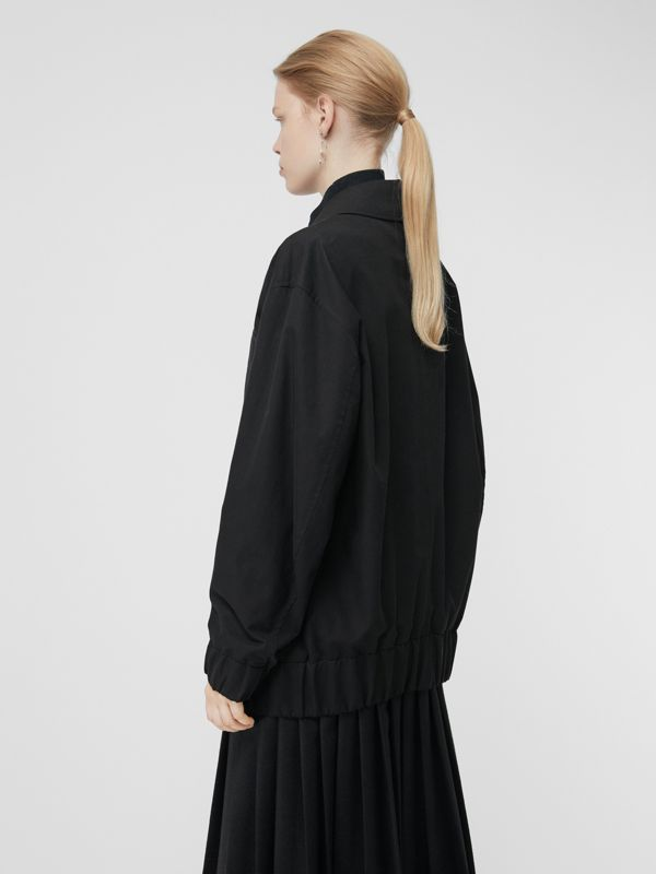 Tropical Gabardine Harrington Jacket in Black - Women | Burberry United Kingdom - cell image 2