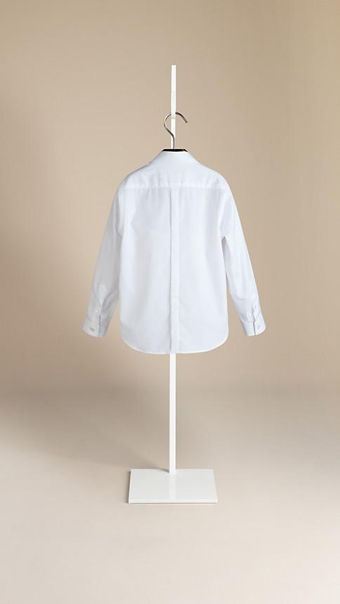 Blanc Chemise en coton à patte couverte - Image 2