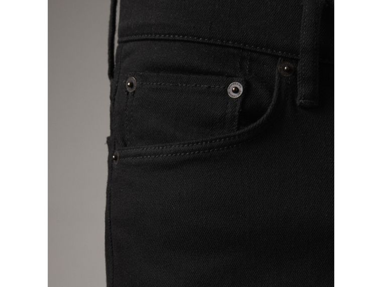 Straight Fit Stretch-denim Jeans in Black - Men | Burberry - cell image 4