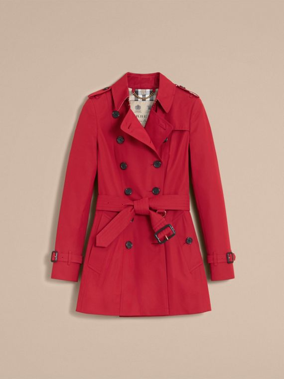 The Chelsea – Short Heritage Trench Coat in Parade Red - cell image 3