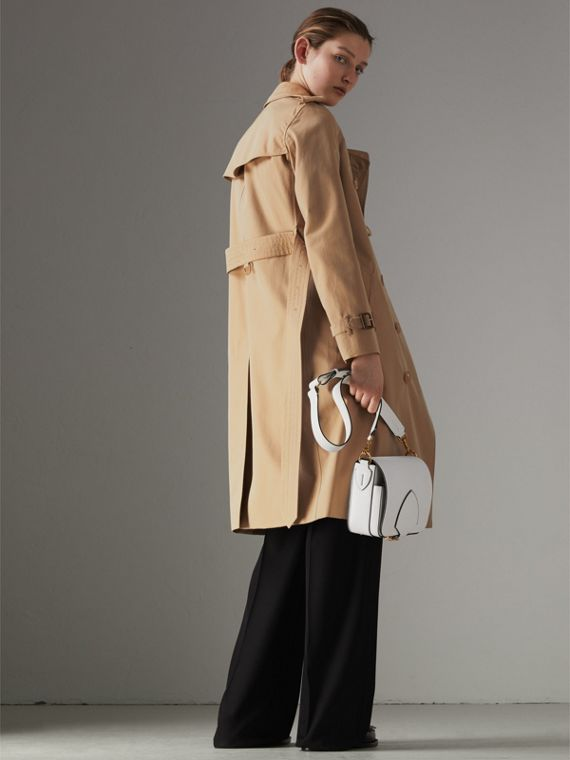 The Long Kensington Heritage Trench Coat in Honey - Women | Burberry - cell image 2