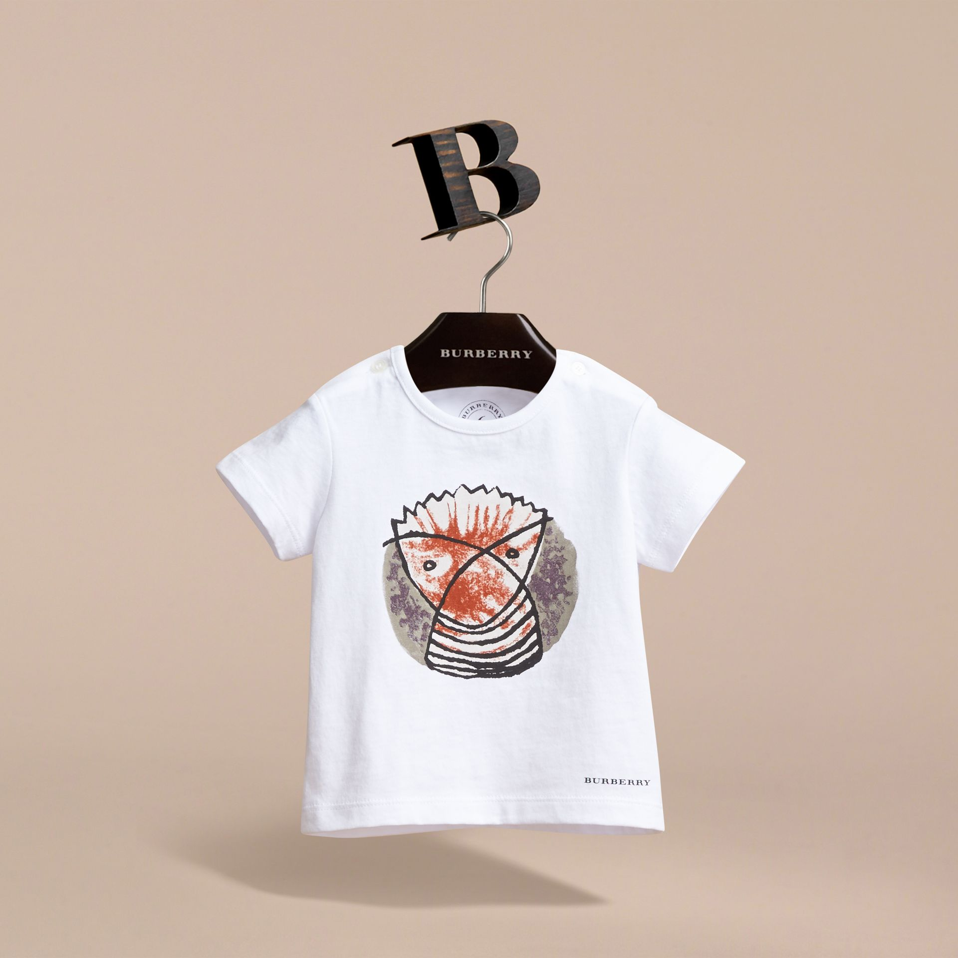 Pallas Heads Print Cotton T-shirt in White | Burberry - gallery image 4