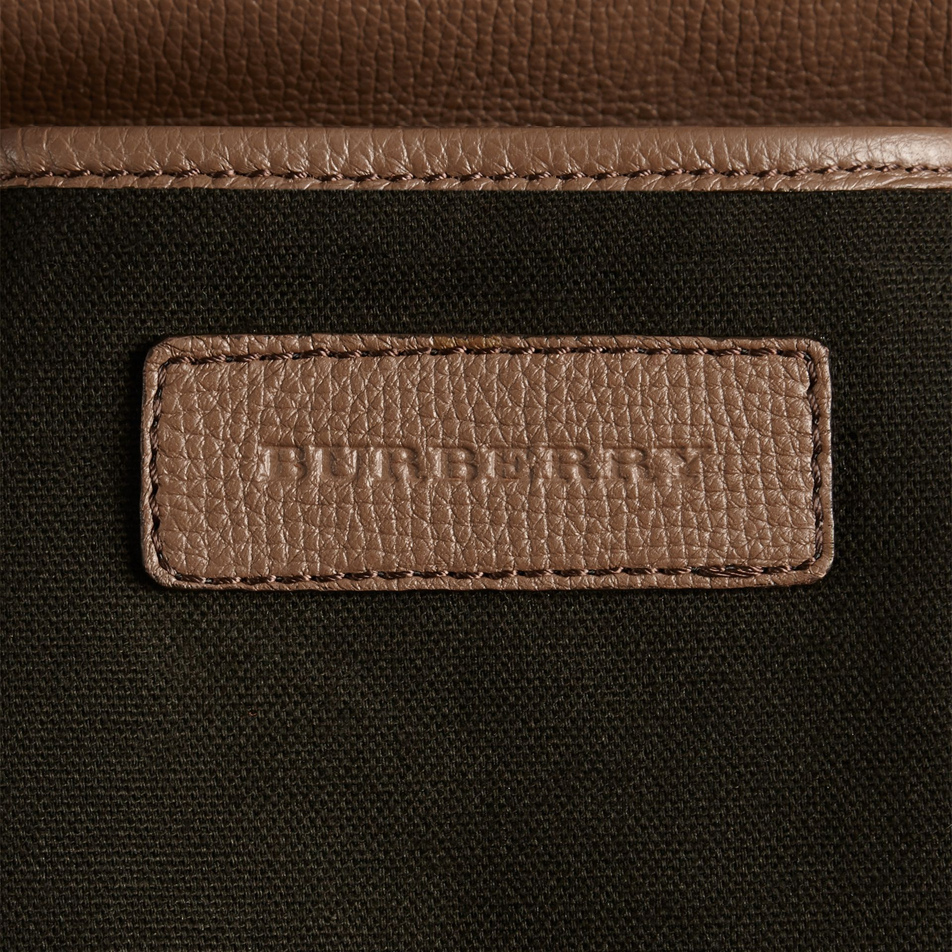 House Check and Leather Baby Changing Bag in Taupe Grey | Burberry - gallery image 8
