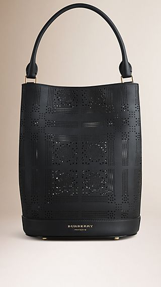 The Bucket Bag in Perforated Leather
