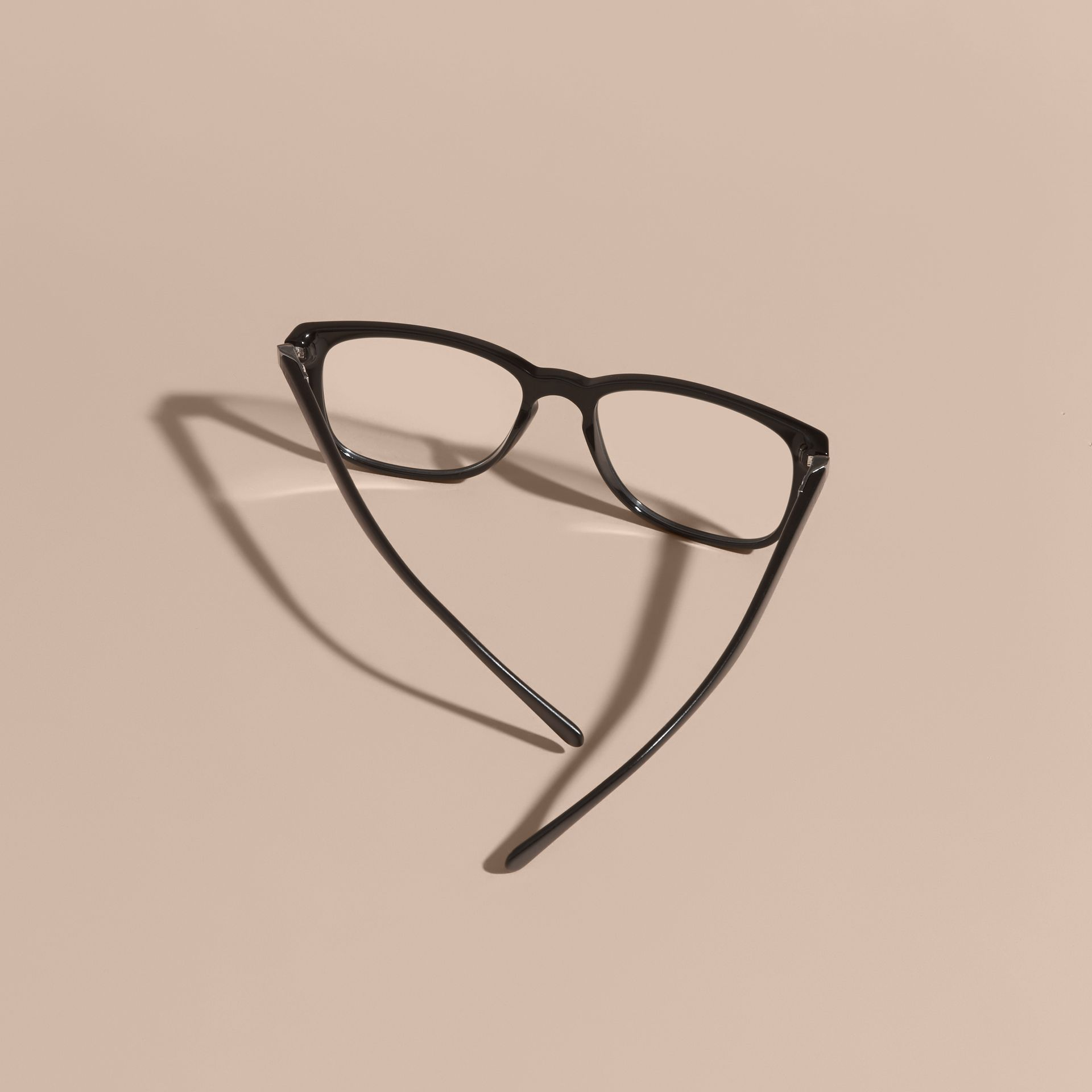 Square Optical Frames in Black - gallery image 4