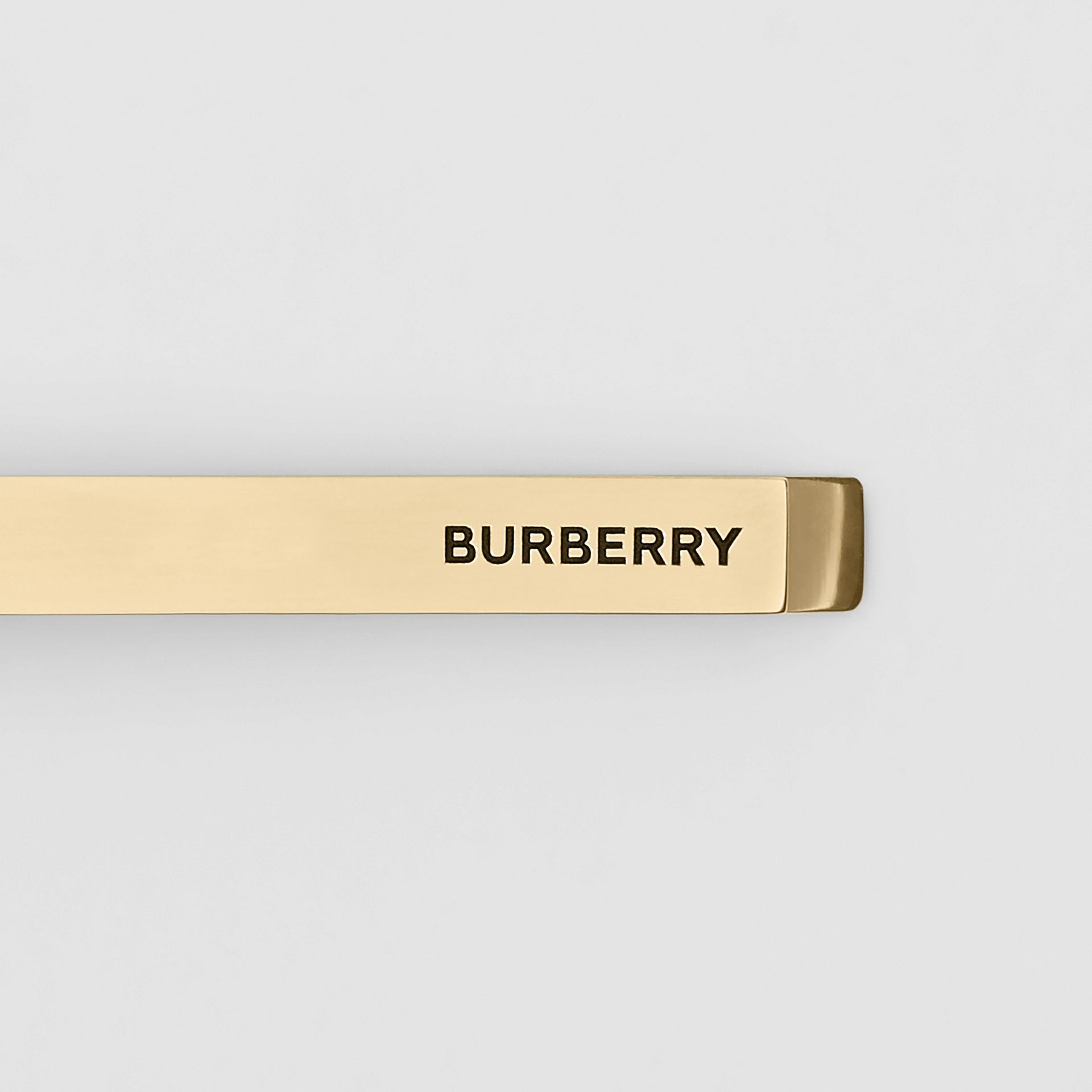 Engraved Gold-plated Tie Bar in Light - Men | Burberry - gallery image 1
