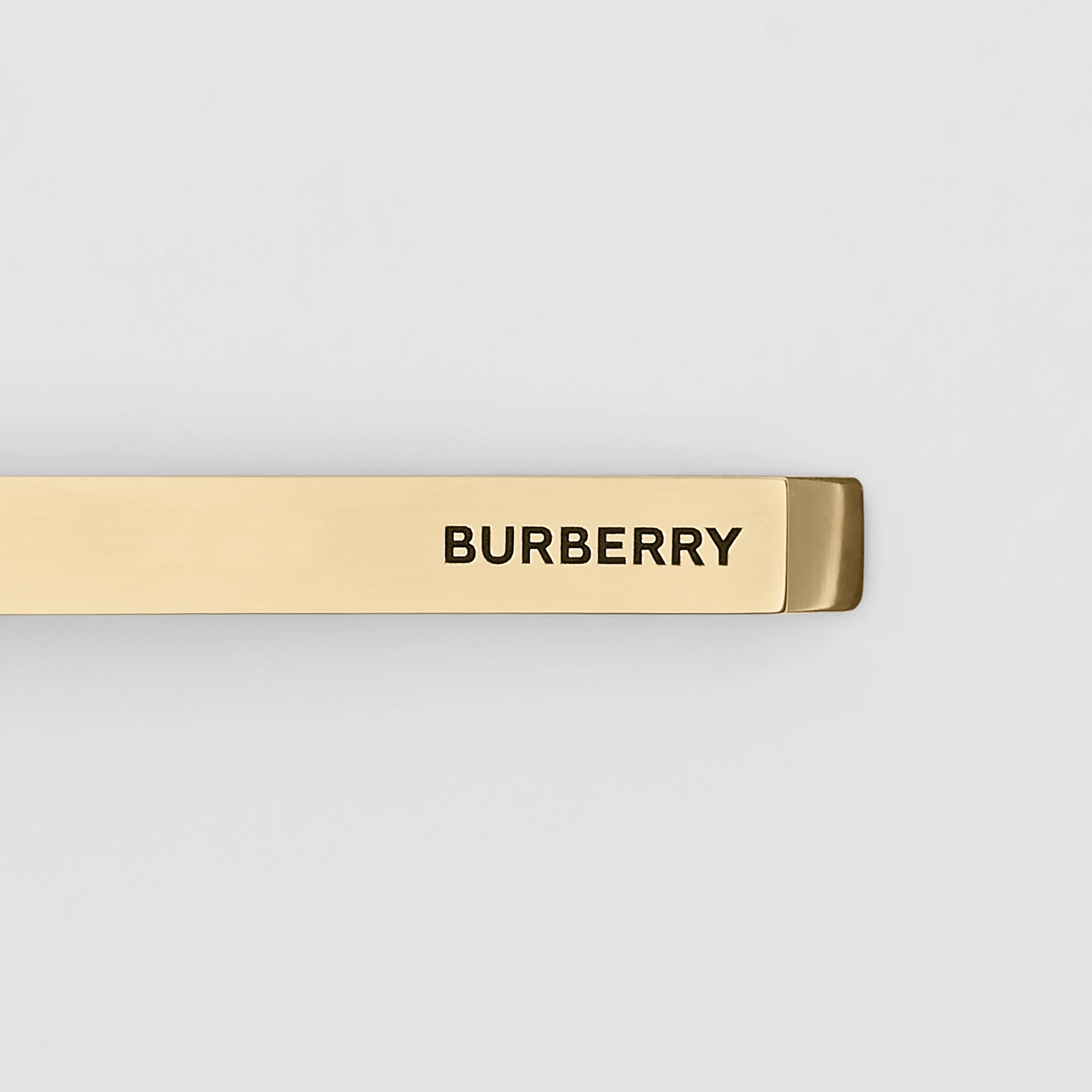 Engraved Gold-plated Tie Bar in Light - Men | Burberry - 2