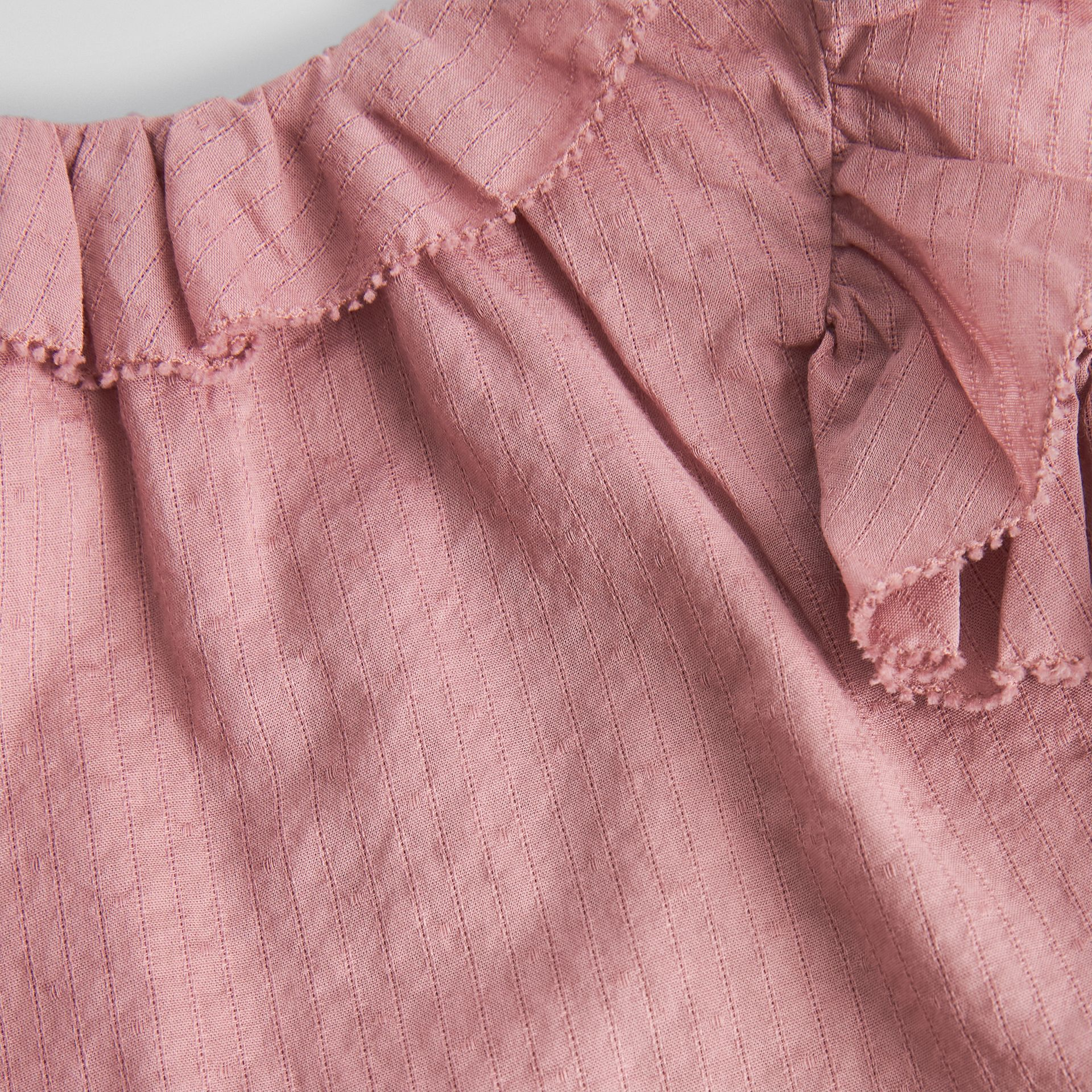 Ruffle Detail Cotton Dress with Bloomers in Light Elderberry - Children | Burberry - gallery image 1