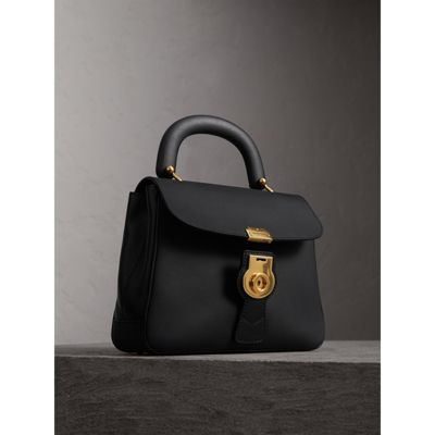 DK88 Bag in Black Embossed Calfskin Burberry zlEAAujd