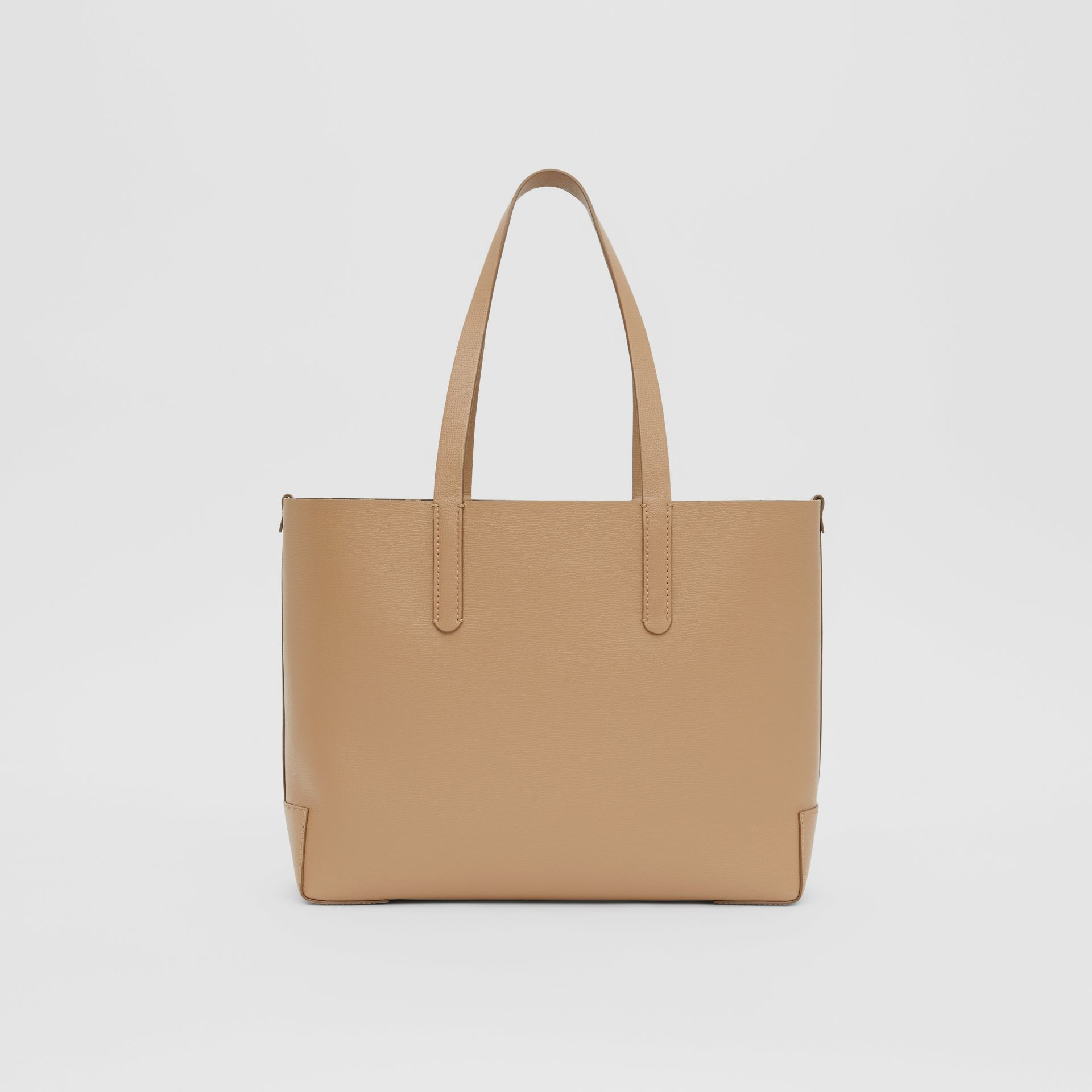Embossed Monogram Motif Leather Tote in Camel - Women | Burberry - gallery image 9
