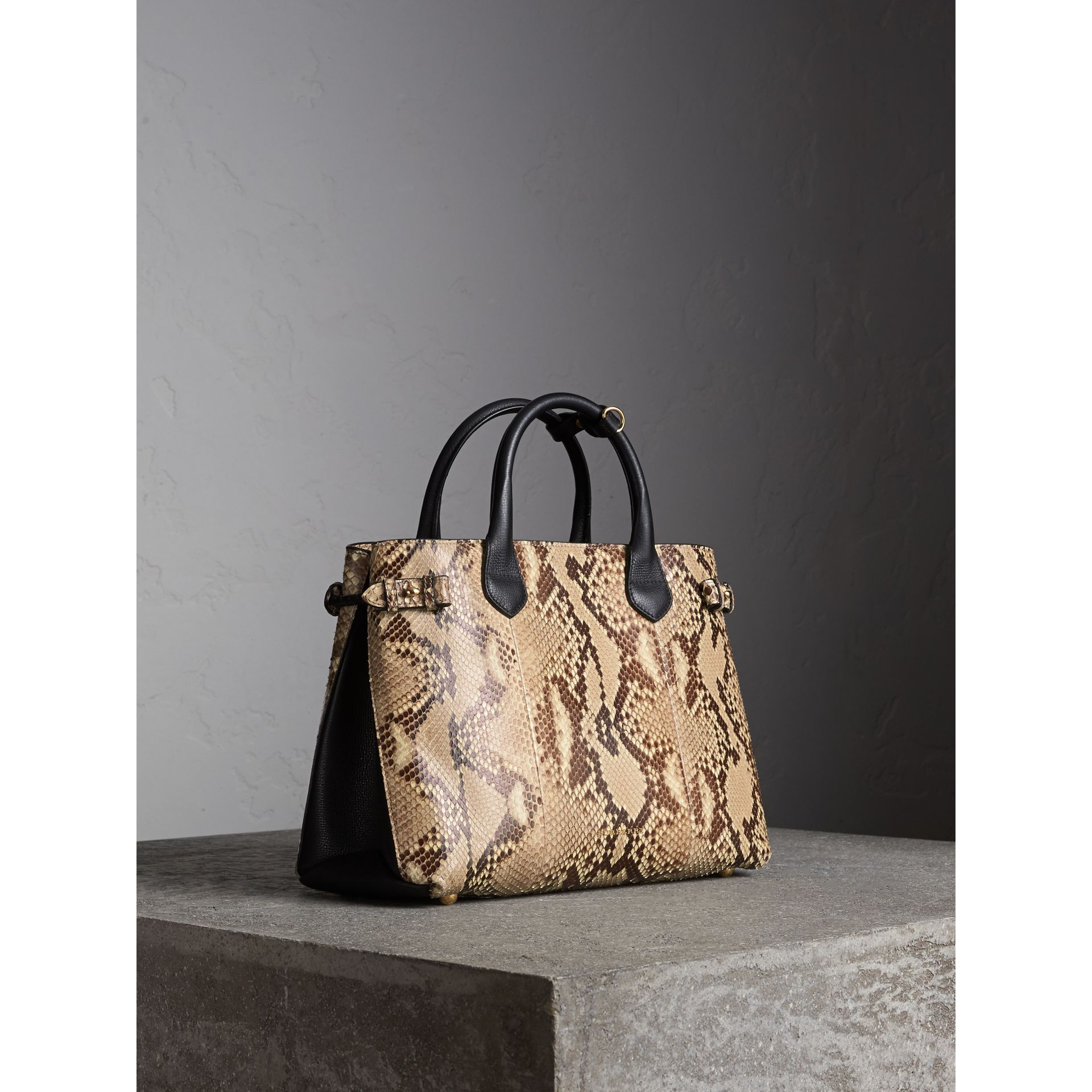 Sac The Banner medium en python - Femme | Burberry - photo de la galerie 1