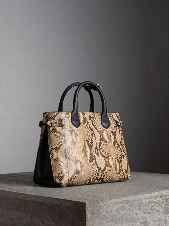 Sac The Banner medium en python - Femme | Burberry