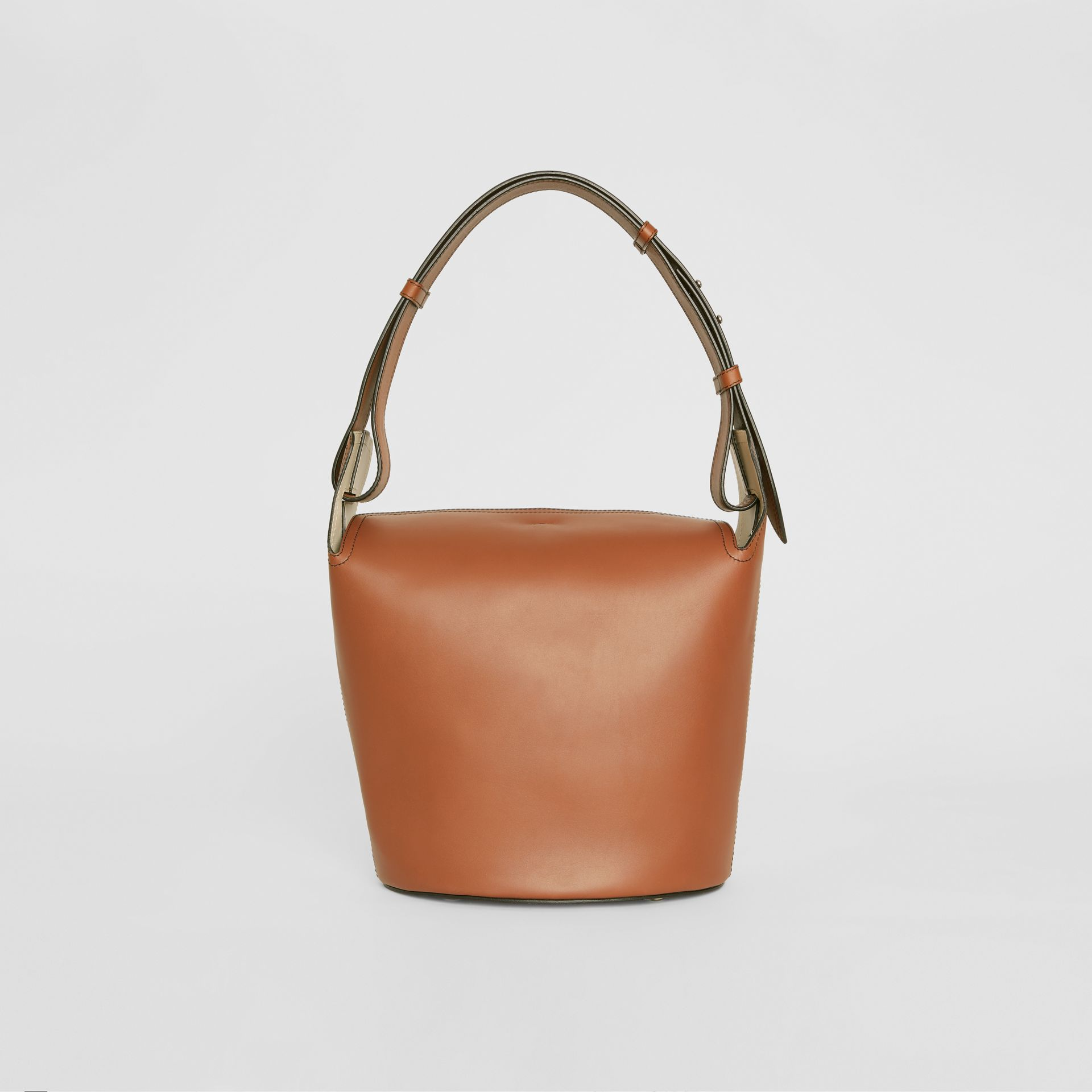 The Medium Leather Bucket Bag in Tan - Women | Burberry - gallery image 7