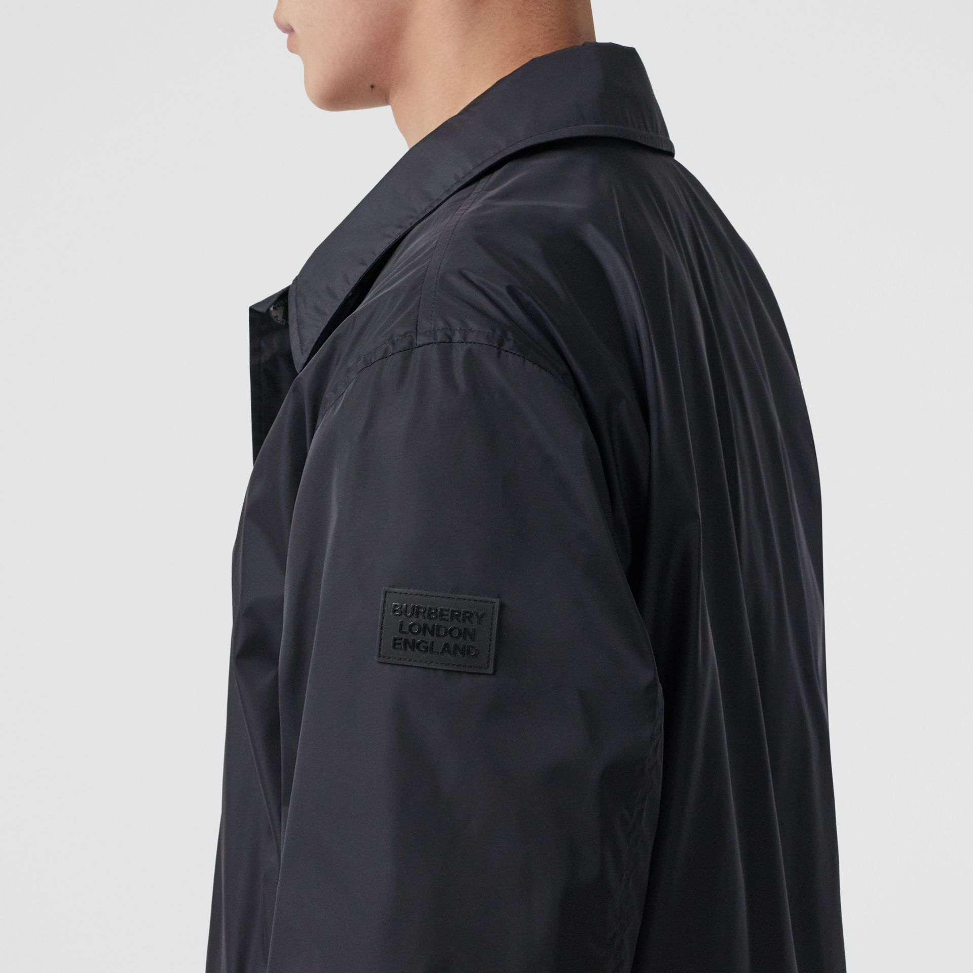 Detachable Hood Nylon Car Coat in Navy - Men | Burberry - gallery image 5